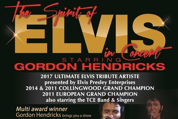 The spirit of Elvis Starring Gordon Hendricks